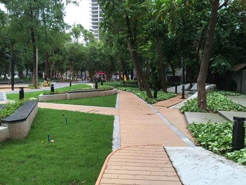 羊城创意园生态木地板