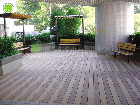 商业建筑室内休闲地板工程实景
