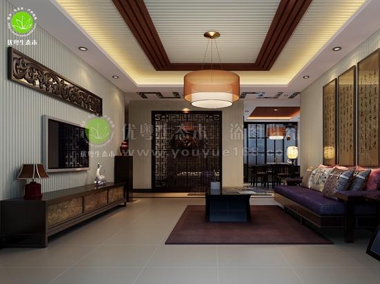 广州生态木客厅墙板