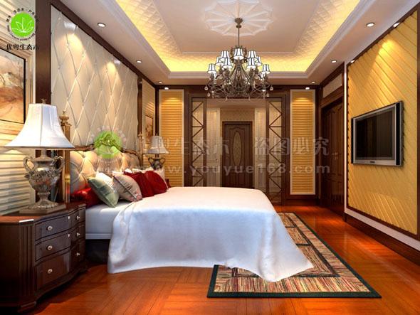 中欧式家居卧室墙板工程实景