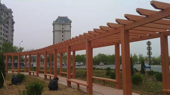 广东塑木廊架