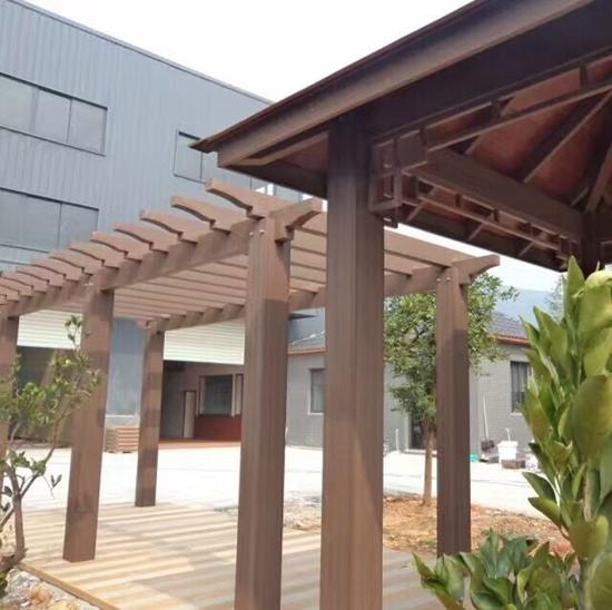 番禺塑木廊架