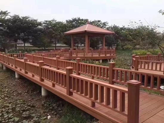 广东塑木围栏