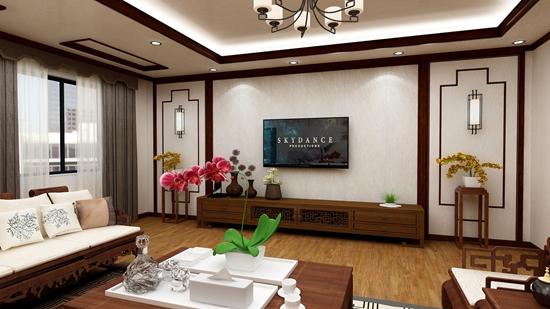 竹木纤维集成客厅墙板